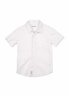 Appaman Short-Sleeve Tonal Pattern Beach Shirt