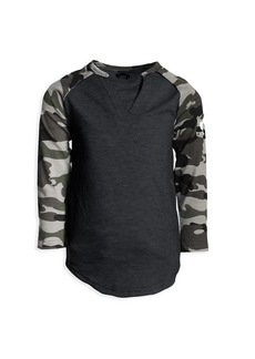 Appaman Baby, Little Boy's & Boy's Camouflage-Sleeve Baseball T-Shirt