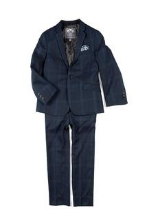 Appaman Boys' Two-Piece Mod Glen Plaid Suit w/ Gingham Pocket Square