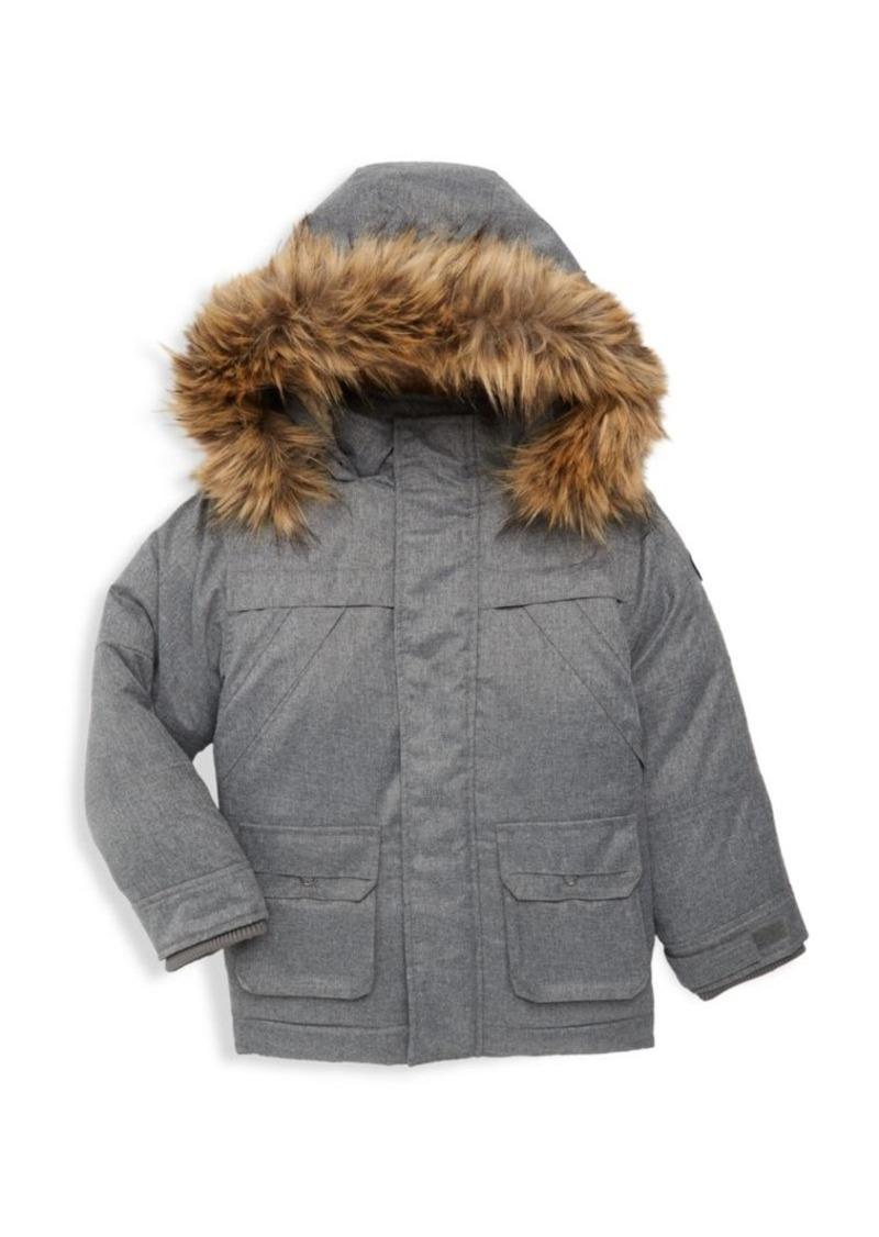 Appaman Little Boy's & Boy's Denali Faux-Fur Trim Down Coat