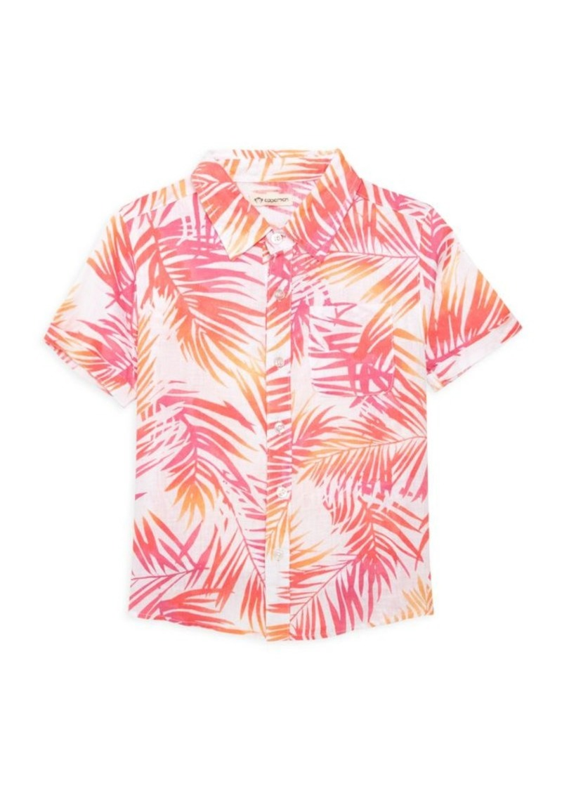 Appaman Little Boy's & Boy's Playa Palm-Print Shirt