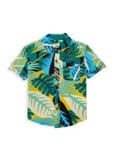 Appaman Little Boy's & Boy's Tropical-Print Short-Sleeve Shirt