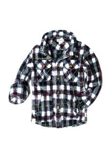 Appaman Snow Fleece Plaid Shirt