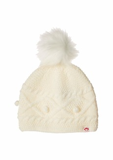 Appaman Soft Cable Knit Print Himalaya Hat with Faux Fur Puff Ball (Infant/Toddler/Little Kids/Big Kids)