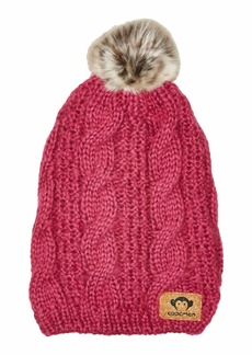 Appaman Soft Knit Slouchy Tendril Hat with Puff Ball Faux Fur (Infant/Toddler/Little Kids/Big Kids)