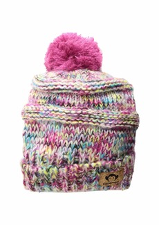 Appaman Soft Multicolored Knit Slouchy Tilly Hat with Puff Ball (Infant/Toddler/Little Kids/Big Kids)