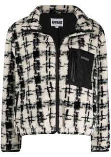 APPARIS Kayla houndstooth-pattern bomber jacket