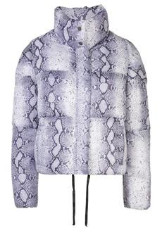 APPARIS snake print puffer jacket