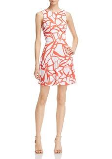 AQUA Abstract Print Scoop Back Dress - 100% Exclusive