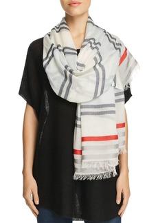 AQUA All Over Stripe Wrap Scarf