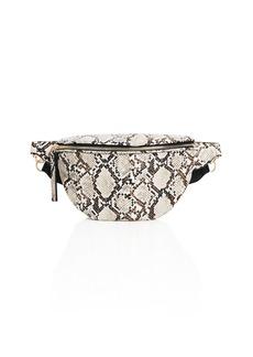 AQUA Snake-Print Medium Belt Bag - 100% Exclusive