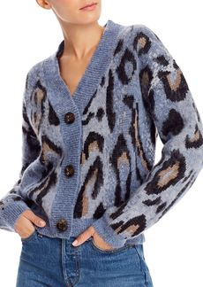 AQUA Animal Print Cardigan Sweater - 100% Exclusive