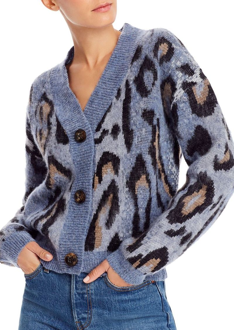AQUA Animal Print Cardigan Sweater - 100% Exclusive
