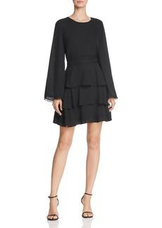 AQUA Appliqu�d Tiered Dress - 100% Exclusive