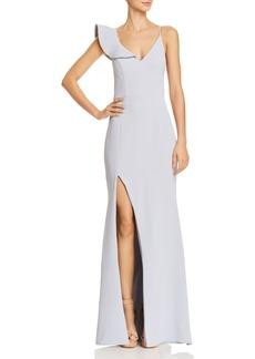 AQUA Asymmetric Crepe Gown - 100% Exclusive