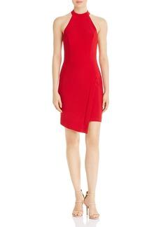 AQUA Asymmetric Halter Dress - 100% Exclusive