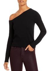AQUA Asymmetrical Shoulder Sweater - 100% Exclusive