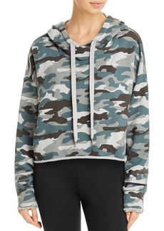 AQUA Athletic Camo Cropped Hooded Sweatshirt - 100% Exclusive