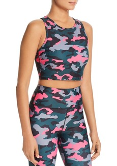 AQUA Athletic Camo Cropped Tank - 100% Exclusive