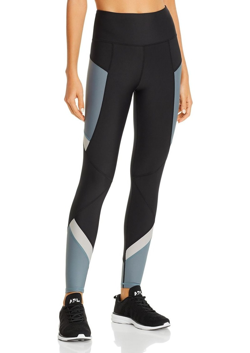 AQUA Athletic High-Rise Color-Block Leggings - 100% Exclusive