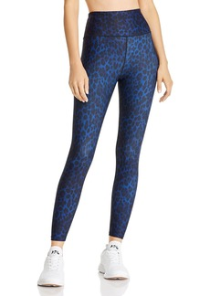 AQUA Athletic Leopard Print Ankle Leggings - 100% Exclusive