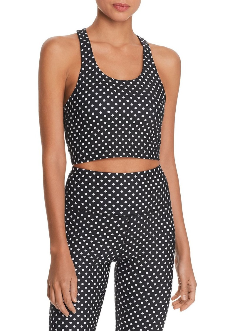 AQUA Athletic Polka Dot Cropped Top - 100% Exclusive