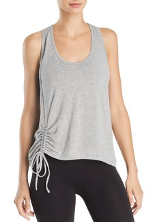 AQUA Athletic Ruched Drawstring Racerback Tank - 100% Exclusive