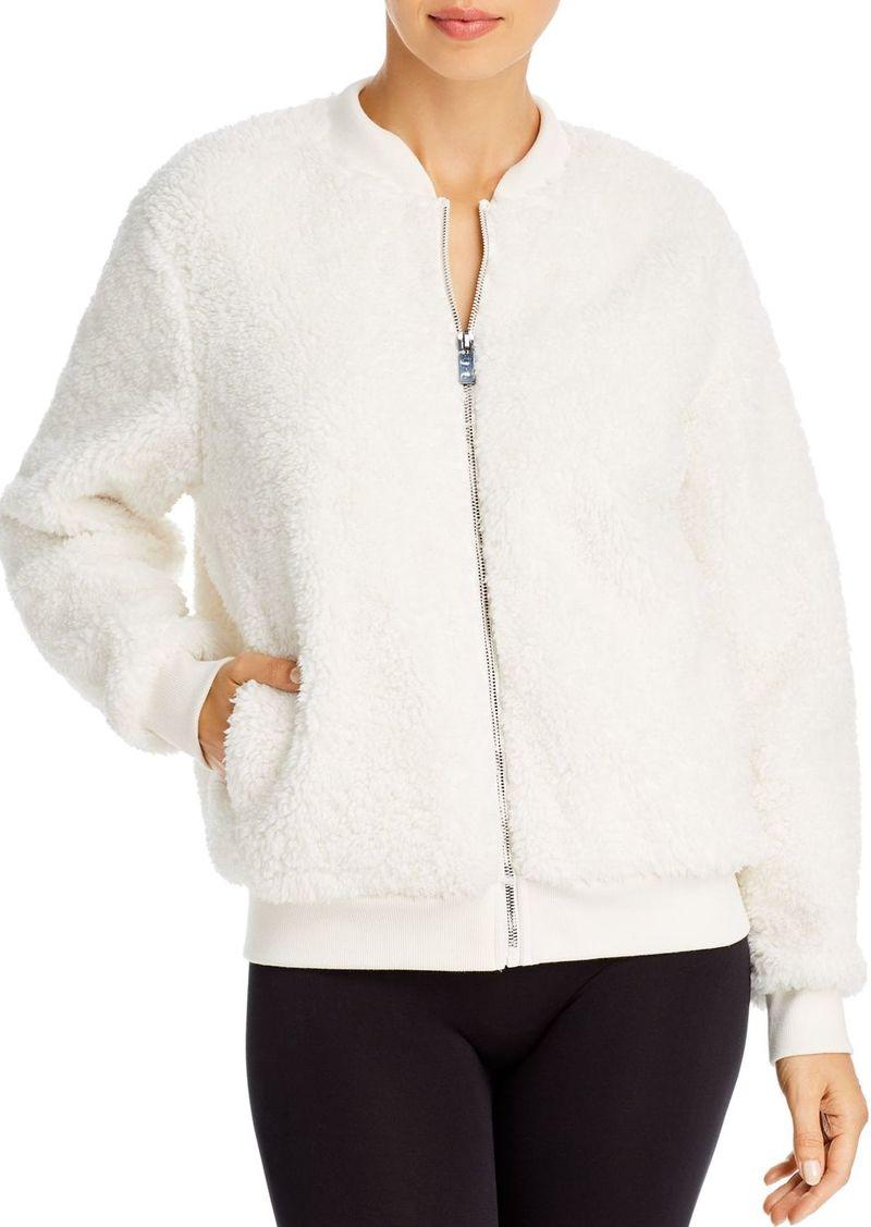 AQUA Athletic Sherpa Faux Fur Bomber Jacket - 100% Exclusive