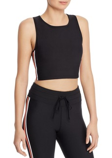 AQUA Athletic Track Stripe Cropped Top - 100% Exclusive