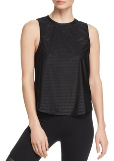 AQUA Athletic Twist-Back Mesh Tank - 100% Exclusive