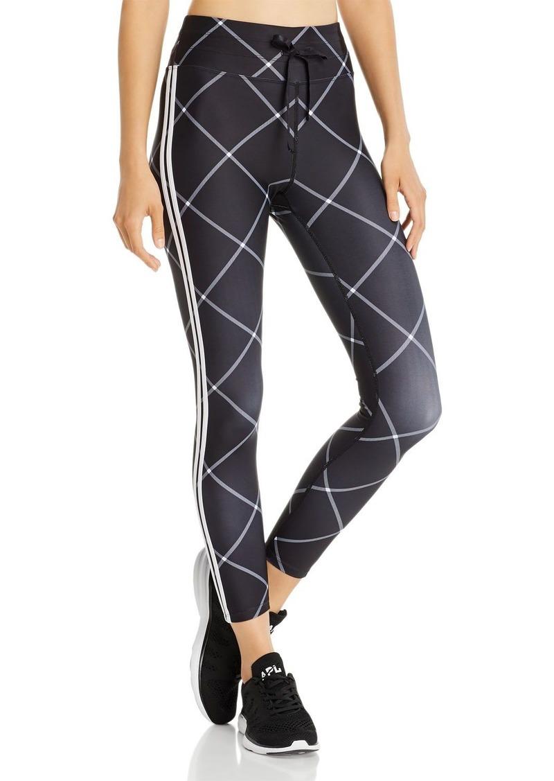 AQUA Athletic Windowpane Drawstring Leggings - 100% Exclusive