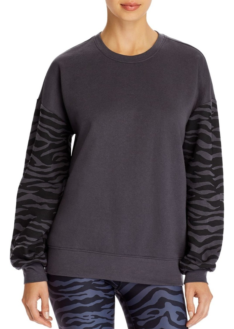 AQUA Athletic Zebra Striped-Sleeve Sweatshirt - 100% Exclusive