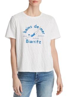 AQUA Bains De Mer Slub-Knit Graphic Tee - 100% Exclusive