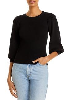 AQUA Balloon Sleeve Ribbed Sweater - 100% Exclusive