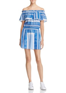 AQUA Bandana Print Off-The-Shoulder Dress - 100% Exclusive