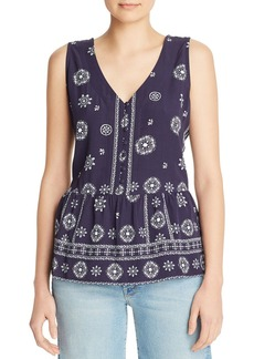 AQUA Bandana Print Peplum Top - 100% Exclusive