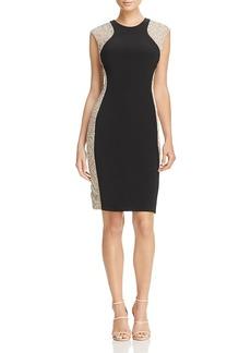 Aqua Beaded Side Dress - 100% Exclusive