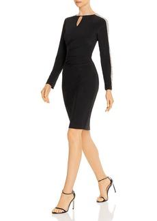 AQUA Beaded-Sleeve Cocktail Dress - 100% Exclusive