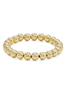 AQUA Beaded Stretch Bracelet in 18K Gold-Plated Sterling Silver or Sterling Silver - 100% Exclusive
