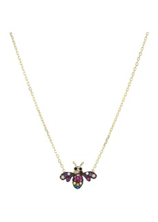 "AQUA Bee Pendant Necklace in Gold-Plated Sterling Silver, 16"" - 100% Exclusive"