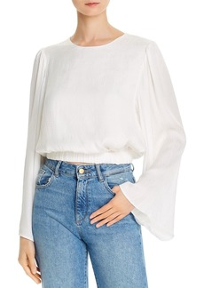 AQUA Bell-Sleeve Cropped Top - 100% Exclusive