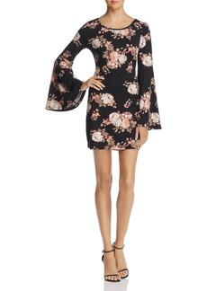 AQUA Bell Sleeve Floral Print Dress - 100% Exclusive