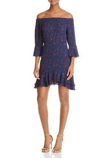 AQUA Bell Sleeve Off-the-Shoulder Dress - 100% Exclusive