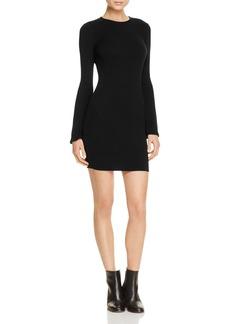 AQUA Bell Sleeve Ribbed Dress - 100% Exclusive