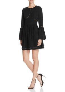 AQUA Bell Sleeve Ric Rac Dress - 100% Exclusive