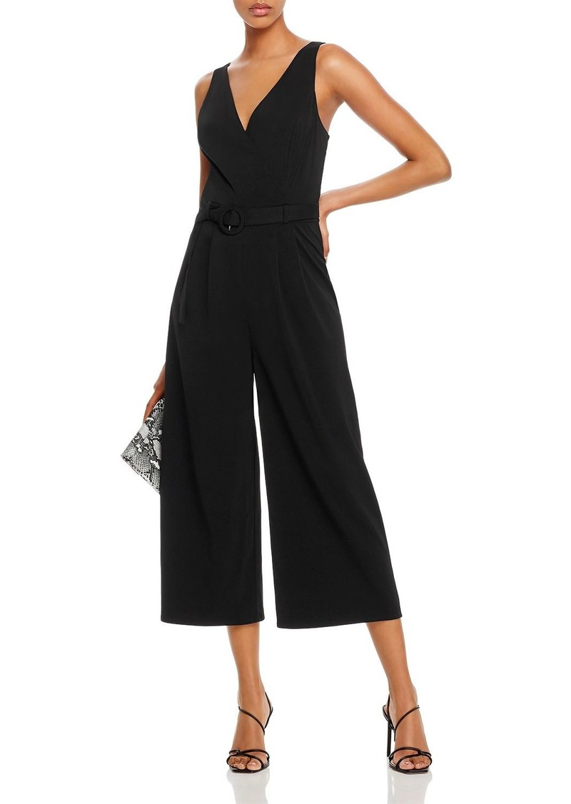 AQUA Belted Cropped Wide-Leg Jumpsuit - 100% Exclusive