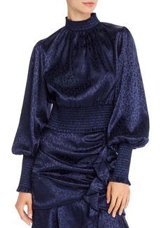 AQUA Bishop-Sleeve Smocked Top - 100% Exclusive