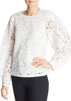 AQUA Blouson-Sleeve Lace Top - 100% Exclusive