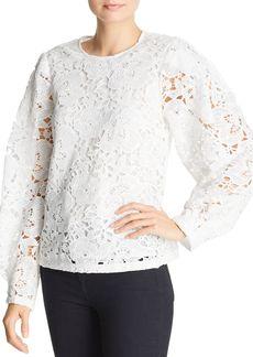 AQUA Blouson-Sleeve Lace Top - 100% Exclusive