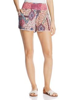 AQUA Boho Printed Shorts - 100% Exclusive